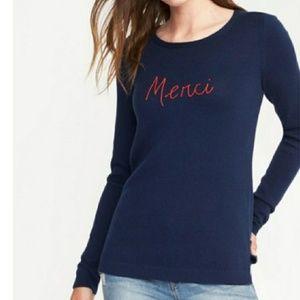 🎃 Old Navy Merci Knit Sweater Size L